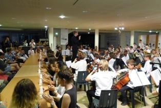 L'Orchestre d'Harmonie avec à sa direction Mathias CHARTON