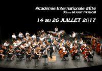 Le programme des concerts 2017