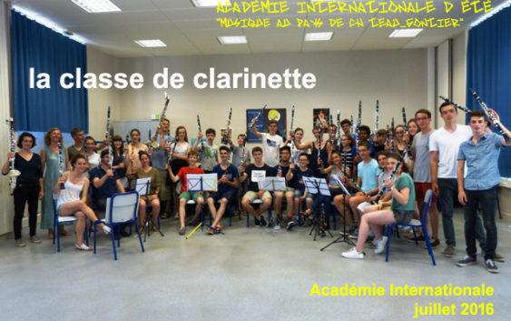 La classe de clarinette de Jérôme Voisin est au complet !