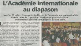 Revues de Presse 2013